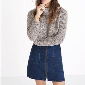 Madewell denim zip up skirt